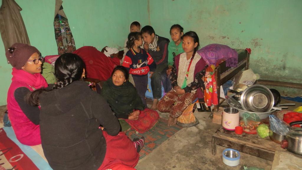 Mother empower, help, children, nepal